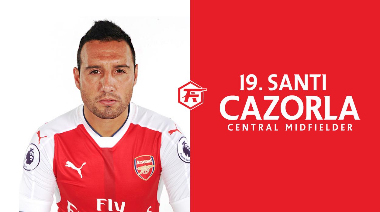 Report Card Santi Cazorla Fresh Arsenal